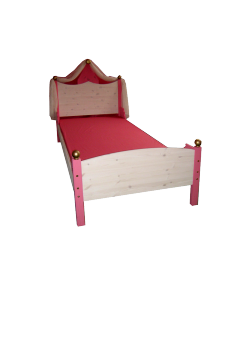 Kinderbett mit Rost, Prinzessinnenbett Massivholz
