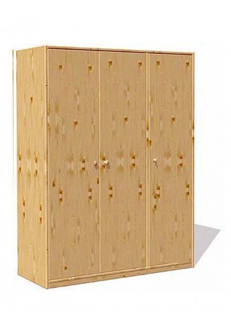 kleiderschrank trio 3 t ren kinderzimmer massivholz. Black Bedroom Furniture Sets. Home Design Ideas
