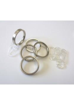 Ringe für 16mm Ø Vorhangstangen, Edelstahloptik