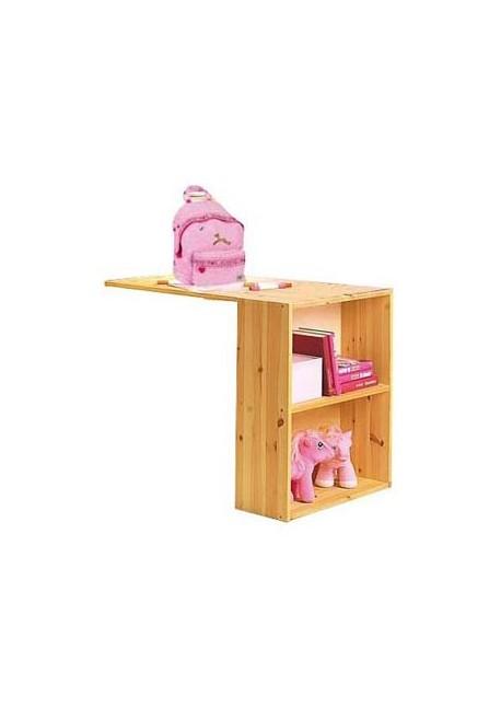 Schreibtisch Ebrach Holz Massiv Mit Bücherregal Vielzweckregal