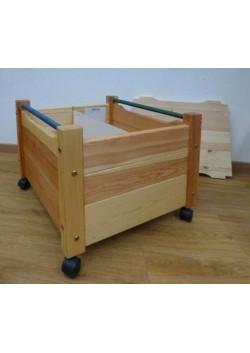 """Spielzeugkiste """"Comtesse"""" mit Deckel, aus Holz, mit Rollen, ohne Schadstoffe,  direkt vom deutschen Hersteller"""