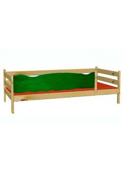 Kinderbett 90x200cm mit 4seitigem Rausfallschutz Front mit 7 Motiven zur Wahl -