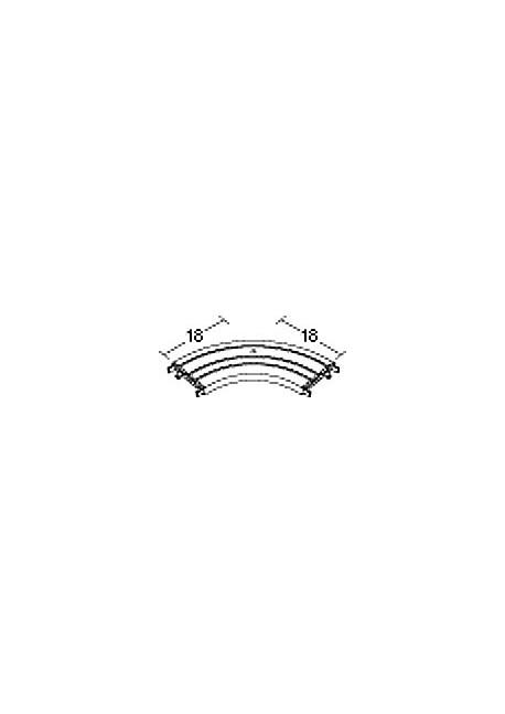 Durchschleuderbogen für Gardinenschiene 2804