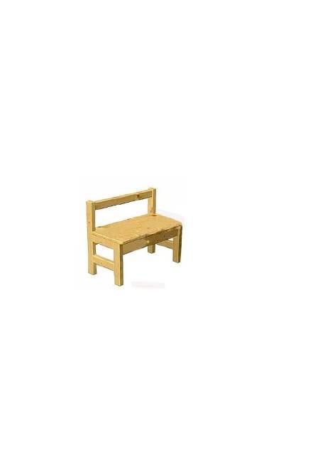 Kinder Sitzbank Massivholz Mit Rückenlehne