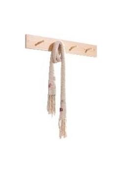 Garderobenleiste mit 4 Holzknöpfen