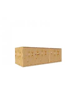 Massivholz Schrank Aufsatz, 3 Türen, Kinderzimmermöbel massiv aus Holz