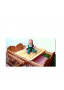 Babybett Wickelaufsatz, Wickelplatz Holz massiv, platzsparend auf silenta Gitterbetten
