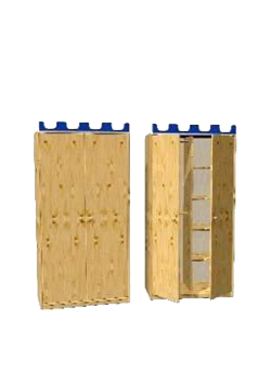 """Kleiderschrank mit 2 Drehtüren, """"Castello"""" Kiefer massiv, Höhe 171 cm, direkt vom deutschen Hersteller"""