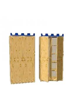 """Kleiderschrank mit 2 Drehtüren, Massivholz, """"Castello"""" Höhe 171 cm, direkt vom deutschen Hersteller"""