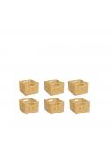 Stapelboxen - Set, 6 Stück passend zu allen silenta-Regalen