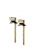 2 Garderoben Paneele, Dielenmöbel, Massivholz, Bio Qualität