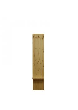 Dielen Garderobe mit Ablage, Massivholz, 3 Holzknöpfe