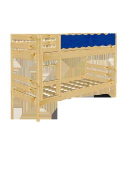 "Kinder Etagenbett ""Welle"" Holz massiv FSC®, 2 Rollroste"