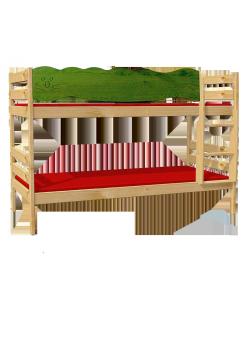 """Etagenbett """"Robby""""  Kindermöbel Holz massiv FSC ® teilbar mit Rost, direkt vom deutschen Hersteller"""