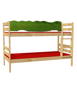 "Kinder Etagenbett ""Robby"" Holz massiv, teilbar, mit Rosten"