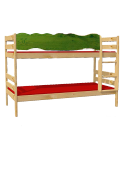 "Kinder Etagenbett ""Robby"" Holz massiv , Rollroste, teilbar"