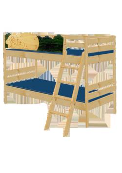 """Etagenbett """"Bruno"""" Kindermöbel aus Holz massiv FSC® geölt ,teilbar, umbaubar,  mit Rost, direkt vom deutschen Hersteller"""