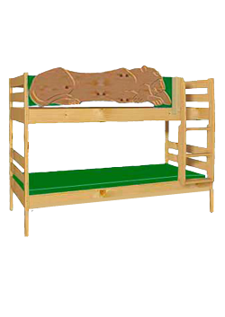 """Etagenbett """"Leo"""",  aus Holz massiv, geölt, teilbar, mit Rost, direkt vom deutschen Hersteller"""