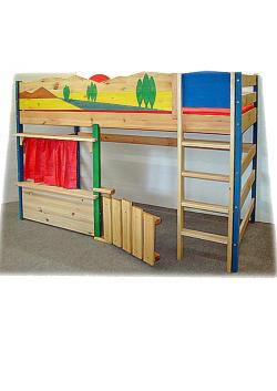 """Hochbett, Abenteuerbett """"Toscana"""", Massivholz Kinderbett online direkt vom deutschen Hersteller bestellen"""