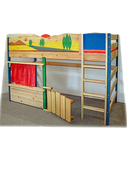 """Spielbett """"Toscana""""  Kinder Hochbett Massivholzmöbel,  direkt beim deutschen Hersteller online bestellen"""