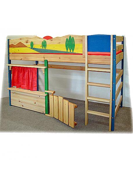 spielbett toscana kinder hochbett massivholzm bel. Black Bedroom Furniture Sets. Home Design Ideas