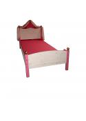 "Kinderbett Prinzessinnenbett ""Lilliana"" 90 x 200 cm, mit Rost, Kiefer Massivholz"