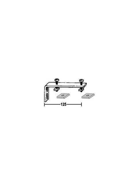 Winkelträger für Gardinenschienen aus Aluminium. Wandbefestigung  2 Lauf