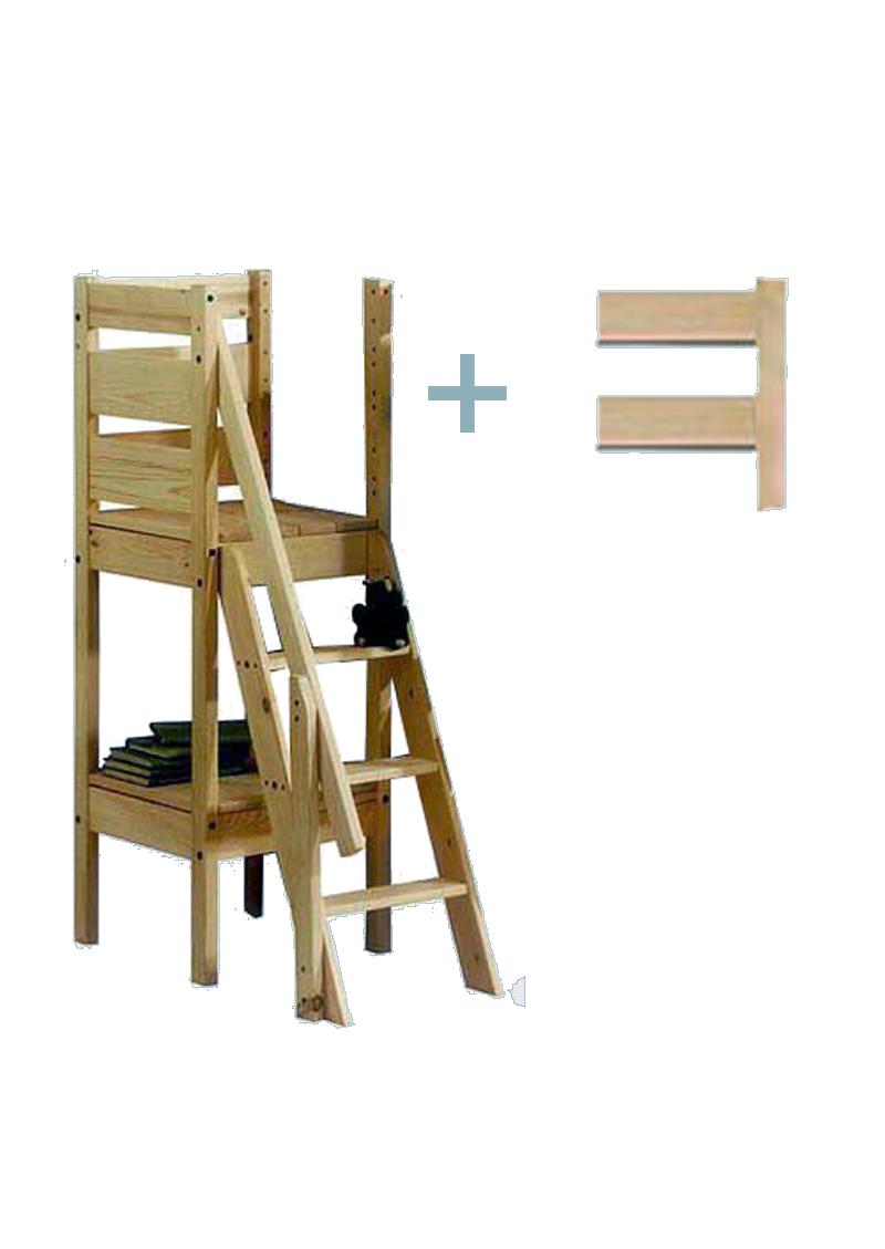 Hochbett-Treppe, Etagenbett-Treppe, Massivholz zu 150cm hohen ... | {Kinderhochbett mit treppe 41}