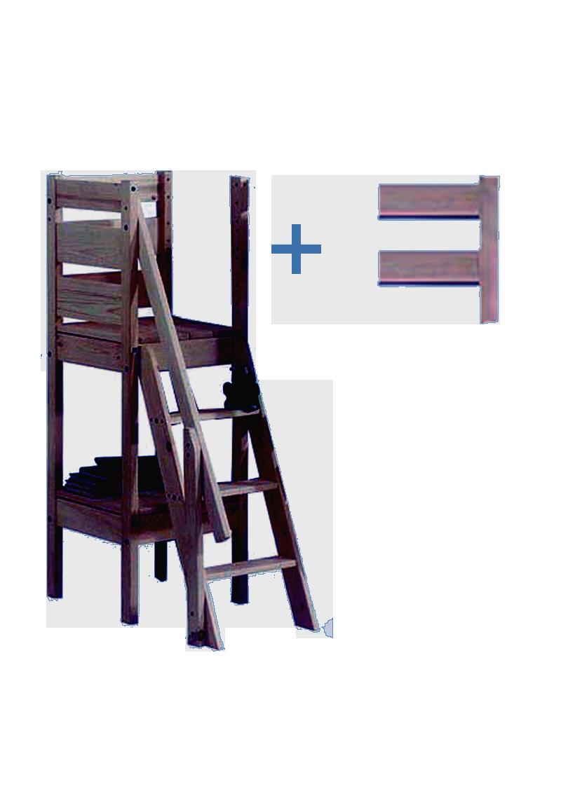 treppe zum silenta hochbett oder etagenbett treppe mit gel nder auf 3 seiten holz massiv. Black Bedroom Furniture Sets. Home Design Ideas