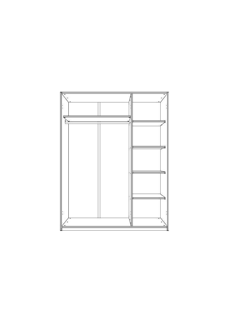 kleiderschrank mit 3 t ren massivholz ohne schadstoffe. Black Bedroom Furniture Sets. Home Design Ideas