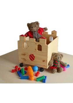 """Spielzeugkiste """"Palazzo"""", Spielzeugbox aus  Holz, mit Rollen, sehr stabil"""