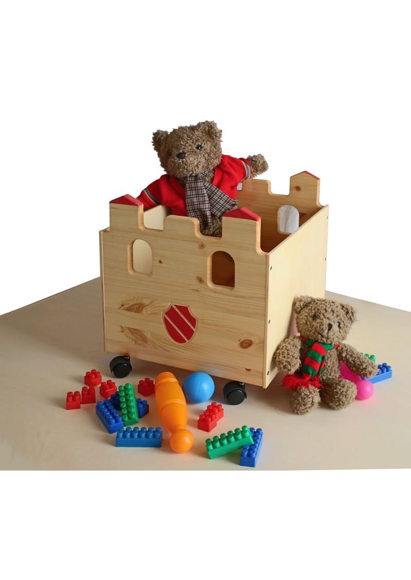 spielzeugkiste palazzo spielzeugbox aus holz mit rollen sehr stabil silenta produktions gmbh. Black Bedroom Furniture Sets. Home Design Ideas