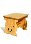 Kindertisch Holz massiv mit Katzenmotiv,  Bio Qualität, direkt vom deutschen Hersteller