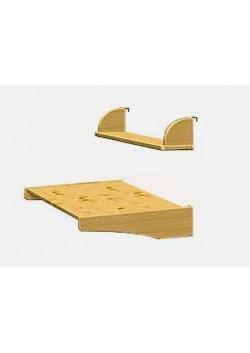 Schreibtisch mit Bücherbord, höhenverstellbar, Naturholz- direkt vom deutsche Hersteller