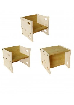 Kinderhocker, Wendehocker aus Holz, der Stuhl der mitwächst