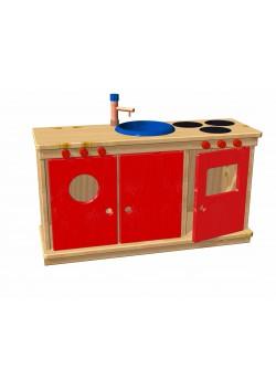Kinderküche  Holz aus nachhaltiger Waldwirtschaft, Spielküche direkt vom deutschen Hersteller