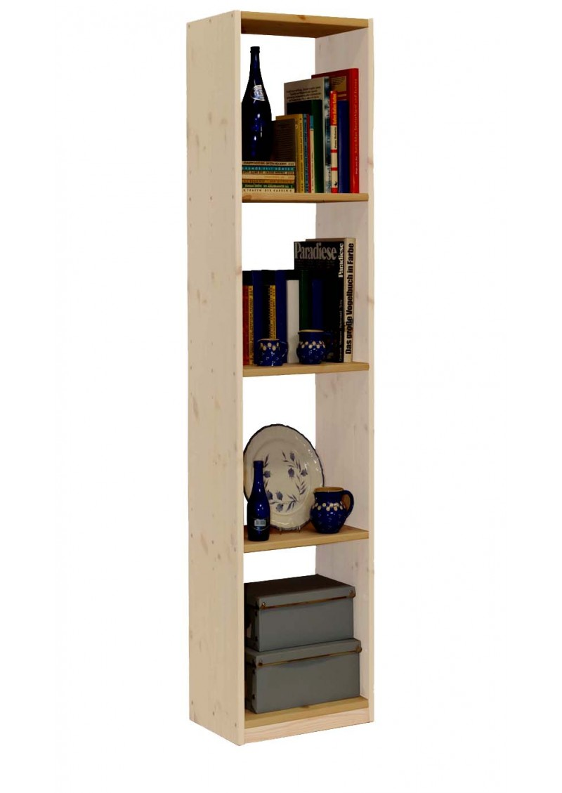 massivholz regal b cherregal breite 44 cm in 4 h hen. Black Bedroom Furniture Sets. Home Design Ideas