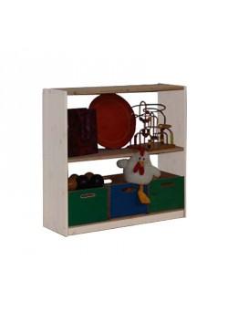 Standregal aus Holz, Breite 89 cm, in 5 Höhen
