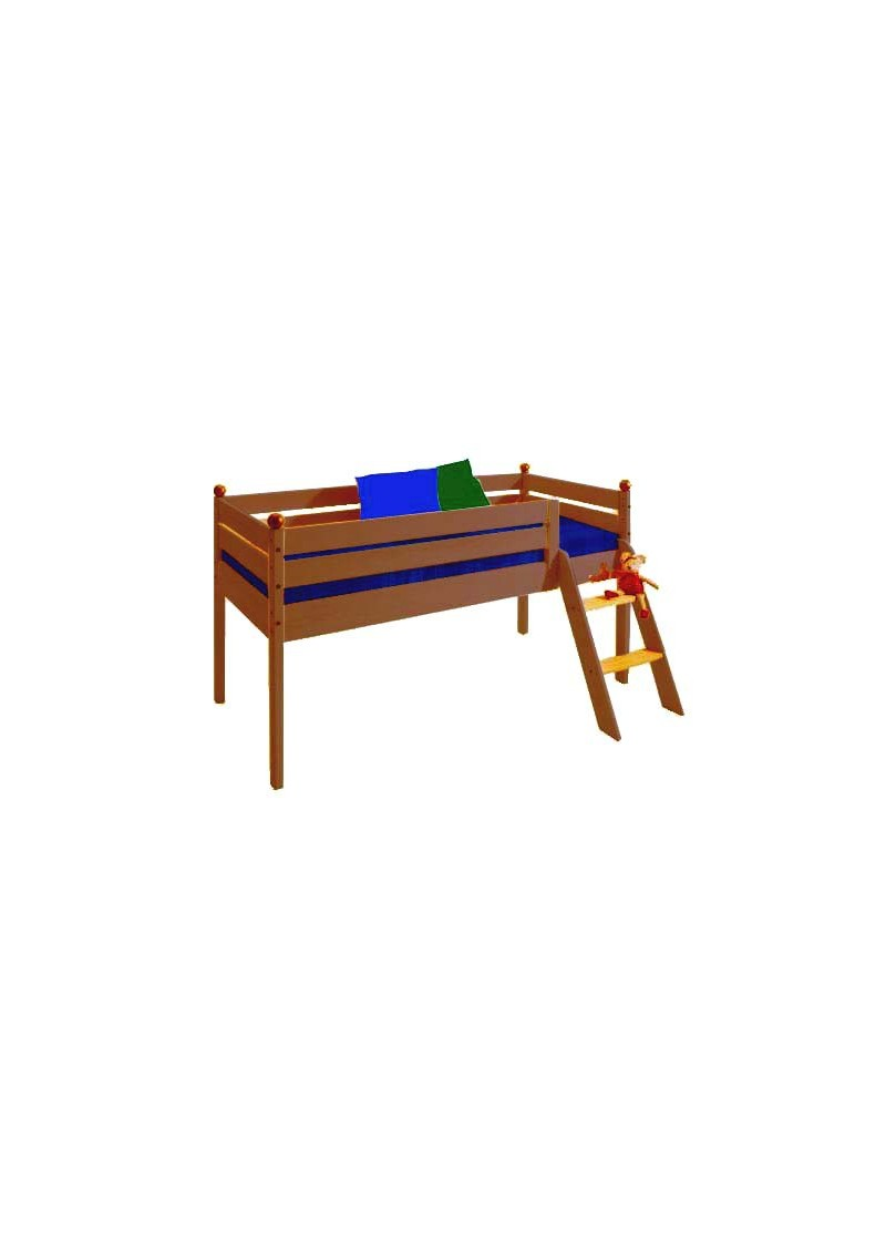 hochbett comtesse 70 x 160 cm halbhochbett 98 cm holz. Black Bedroom Furniture Sets. Home Design Ideas