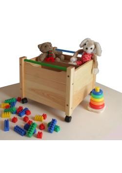 """Spielzeugkiste """"Comtesse"""" Holz massiv,  mit Rollen, direkt vom deutschen Hersteller"""