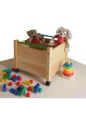 """Spielzeugkiste """"Comtesse"""" mit Rollen, aus Holz, ohne Schadstoffe, online direkt vom deutschen Hersteller bestellen"""