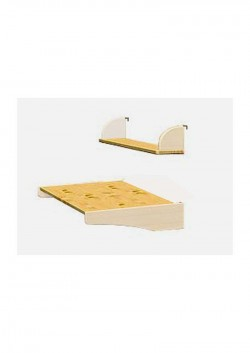Hochbett Schreibtischplatte + Bücherbord aus Holz FSC, direkt vom deutschen Hersteller