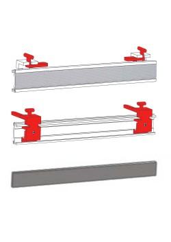 "Schiebevorhang Technik  ""flex""   80 cm,  3 Stück Paneelwagen-Set"