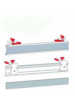 """Schiebevorhang Paneel Set """"direkt""""  Aluminium Paneelwagen Set für Schiebevorhang , Maßanfertigung"""
