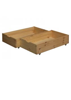 """2 Bettrollkasten """"Vario"""" 48 x 90 cm Schubkasten Holz massiv"""