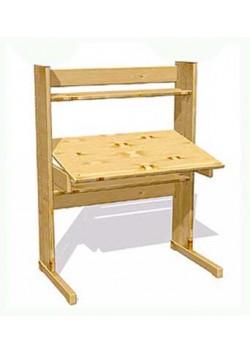 Kinder Schreibtisch mitwachsend aus Massivholz - verstellbar