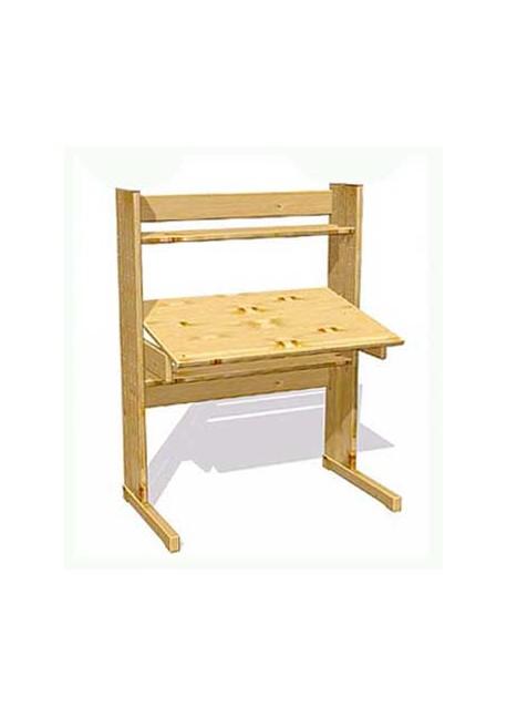 Schreibtischplatte massivholz  Kinder Schreibtisch mitwachsend aus Massivholz - verstellbar ...