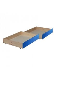2 Rollkästen für Etagenbett silenta  85 x 71 x 18  cm Holz mit Rollen