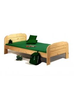 """Kinderbett """"Form 2"""" Kiefernholz massiv,  100 x 200 cm, direkt vom deutschen Hersteller"""