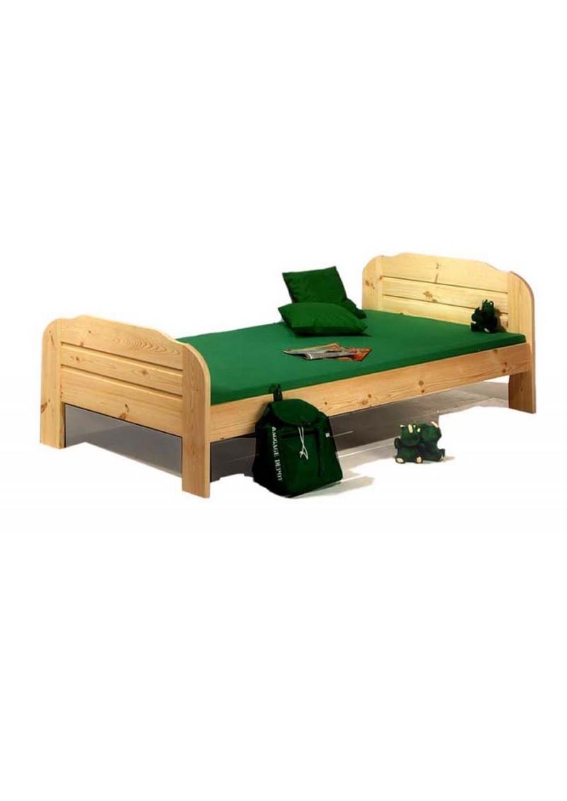 jugendbett form 2 kiefernholz massiv 100 x 200 cm. Black Bedroom Furniture Sets. Home Design Ideas